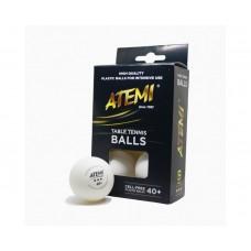Мячи для настольного тенниса Atemi 3 звезды 40+, уп.6 шт.
