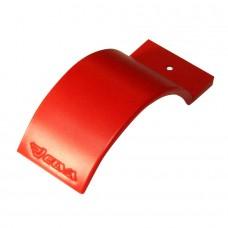 Брызговик коньковый ELVA для колес д.70, 80 мм красный цвет