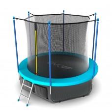 Батут SOULFIT EVO JUMP Internal 10ft (Wave) с внутренней сеткой и лестницей + нижняя сеть
