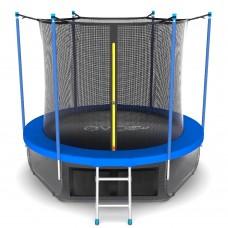 Батут SOULFIT EVO JUMP Internal 10ft (Sky) с внутренней сеткой и лестницей + нижняя сеть