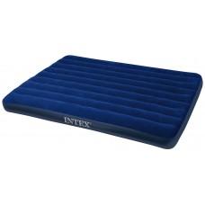 Надувной матрас Intex CLASSIC DOWNY BED 152Х203Х22СМ