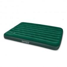 Надувной матрас Intex DOWNY BED 152Х203Х22СМ встроенный ножной насос