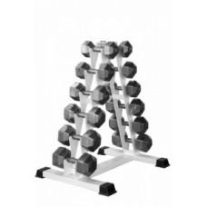 Гантели гексагональные  9 пар (12,5-32,5 кг. с шагом 2,5 кг)