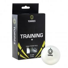 Мяч для настольного тенниса TORRES Training 1 зв. 40+