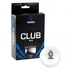 Мяч для настольного тенниса TORRES CLUB 2 зв. 40+